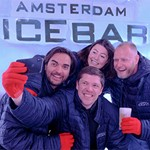 Drinks inside the actual ice bar
